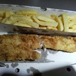 small fish and pale chips