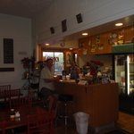 my morning coffee with Lee-anne the owner of the Mahina Cafe.