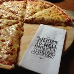 Hell's Pizza.. Gotta try it! Great theme and really good pizza