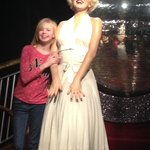 Here is a picture of my daughter with her idol Marilyn monroe