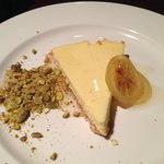 Urban Italian Ricotta Cheesecake  with candied lemon and salted pistachios