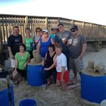 Group photo with the best sand castle artist in South Padre Island