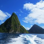Pitons from Solomon's boat
