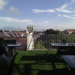 Resto Q hotel...you can have a breakfirst with a wonderful view of Kuta from this Rooftop