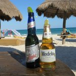 Refreshments on the beach.