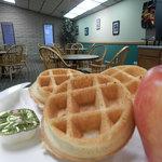 Hot Waffle Breakfast