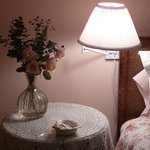 The romantic Rose Room upstairs has a king bed and large window seat.