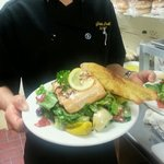 A dinner special with wild caught Alaskan salmon. Salmon Nicoise.