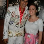 my daughter with 'Elvis'