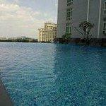 Swimming Pool area - very windy