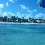 more View of Tortuga Bay beach from boat ride