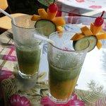 Cucumber Mango shake! Yum!
