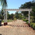 entrance garden to Miramar