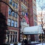Entrance on a snowy Feb day!