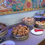 pastries at the breakfast buffet
