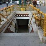 Entrée du métro sur l'avenue Andrassy