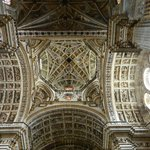 Stunning detail on the ceiling of the transept