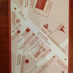 Back of their business card - map