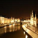 Подстветка вечернего города