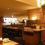 The restaruant and breakfast area