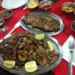 Chinchulines, mogejas y cuore con bife de filet