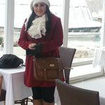 Me in the hotel winter terrace
