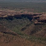 The rim of Kings Canyon from the air