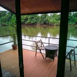 View from your bed on the river.