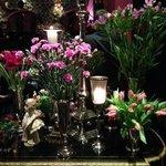 Blomsterbordet i entrén på Dorsia