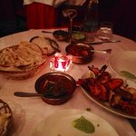 tandoori platter with lamb gosht and naan