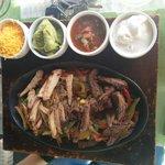 Beef/chicken fajitas