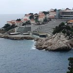 Hotel from footpath into Dubrovnik