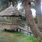 Cabaña de zona Polinesia