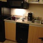 Dishwasher, fridge, microwave, stove