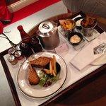 great steak sandwich - nice and rare - YUM