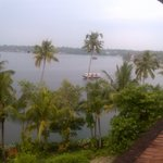 Ashtmudhi lake view from room balcony
