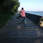 Boardwalk at Toronto Islands, bike ride.