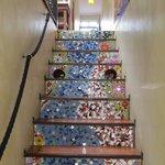 Artistic steps to La Rose