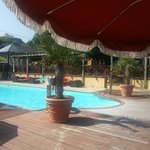 La piscine et la terrasse de la brasserie