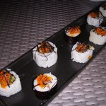 sushi in beach restaurant