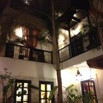 the beautiful riad at night