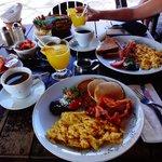 Desayuno imponente...