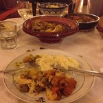 dinner in the riad, lots of food!