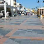 The boardwalk, or paseo - 7 miles long, all tiled, between hotel and the sea