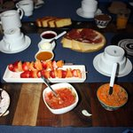 superb breakfast with all fresh and local ingredients