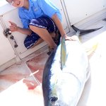 My 12 year old son and his 100+ pound Ahi