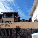 fundos do hostel