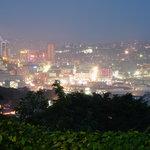 View Of kampala city at night