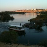 View from one of the paths to the beach along the Nile. The water is just amazing.