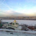 Widok z hotelu na Wołgę